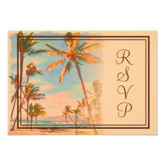 PixDezines rsvp Vintage Beach Scence Aloha Luau Invites