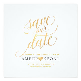 PixDezines Save Date/Faux Gold/DIY Background Card