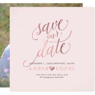 PixDezines Save Date/Faux Rose Gold/DIY Background Card