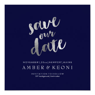 PixDezines Save Date/Faux Silver/DIY Background Card