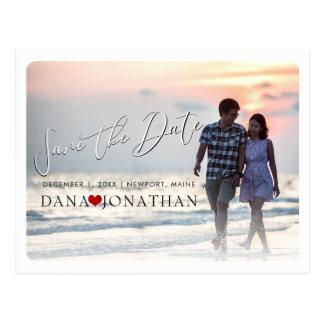 PixDezines Save the Date/Cool Handwritten Script Postcard