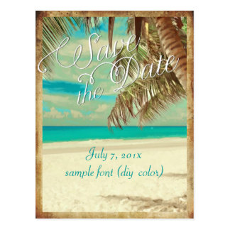 PixDezines save the date vintage hawaii Post Cards