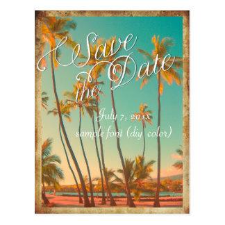 PixDezines save the date vintage hawaii Postcards