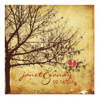 "PixDezines Snow Birds | Fall + Winter Invitations 5.25"" Square Invitation Card"