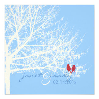PixDezines Snow Birds Fall + Winter Invitations