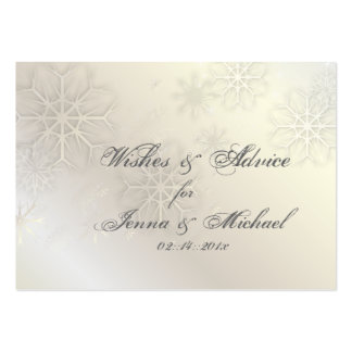 PixDezines Snow Flakes Wishes + Advice Cards Business Card Template