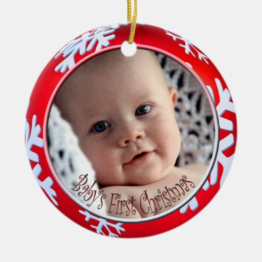 PixDezines Snowflakes Baby's First Christmas Ornament
