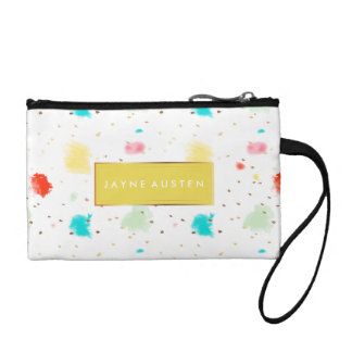 PixDezines Sprinkles Watercolor/DIY background Coin Purse