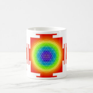 PixDezines Sri Yantra Chakra Clearing/Orange Glow Coffee Mug