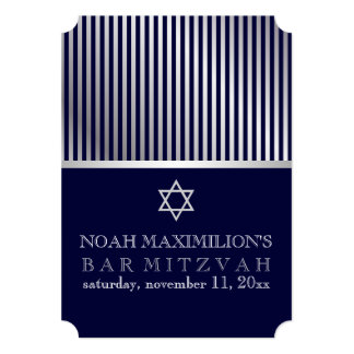 PixDezines stripes bar mitzvah/DIY colors Card