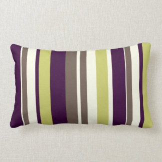 PixDezines stripes/DIY color Lumbar Pillow