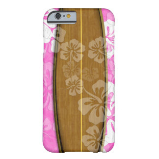 PixDezines surf board+hibiscus/diy background Barely There iPhone 6 Case