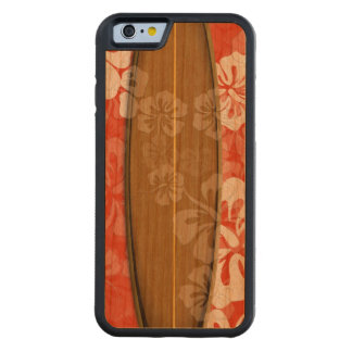 PixDezines surf board/hibiscus/DIY color Cherry iPhone 6 Bumper Case