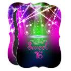 PixDezines Sweet 16, Laser Lights/Neon Lights Card
