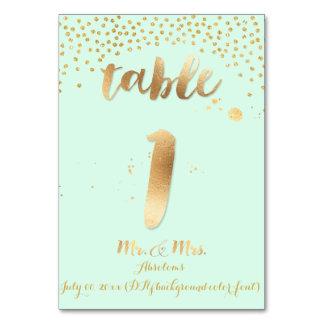 PixDezines table 1/gold sprinkles/DIY color/mint Card