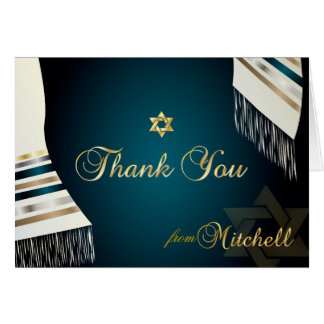 PixDezines Tallit Mitzvah Thank You/DIY color Card