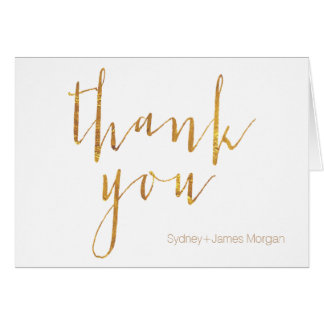 PixDezines thank you cards/faux gold leaf Card