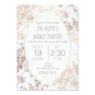 PixDezines Toile Rose Gold/DIY Background 13 Cm X 18 Cm Invitation Card