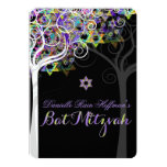 PixDezines tree of life Bat Mitzvah Personalised Announcement