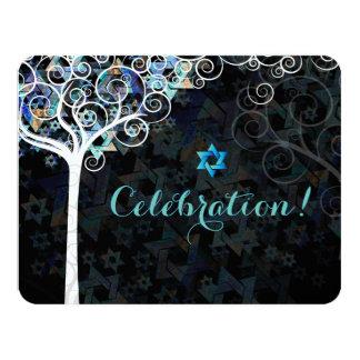 PixDezines Tree of Life Bat Mitzvah/reception 11 Cm X 14 Cm Invitation Card