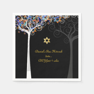 PixDezines tree of life/mitzvah Disposable Serviette