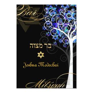PixDezines tree of life mitzvah/metallic ice 13 Cm X 18 Cm Invitation Card