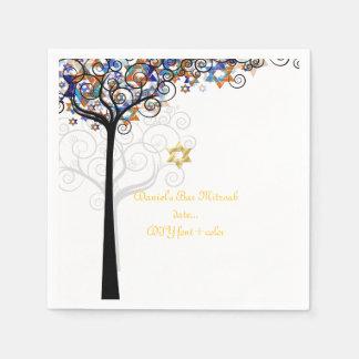PixDezines tree of life/mitzvah Paper Serviettes