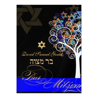 PixDezines tree of life+stars, Bar Mitzvah Announcements