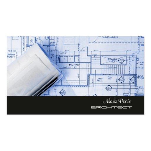 PixDezines Trendy Architect/DIY colors/black+grey Business Card Template