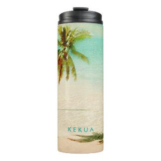 PixDezines Tropical Beach/Coconut Tree/Palm Thermal Tumbler