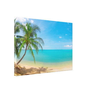 PixDezines tropical paradise Canvas Print