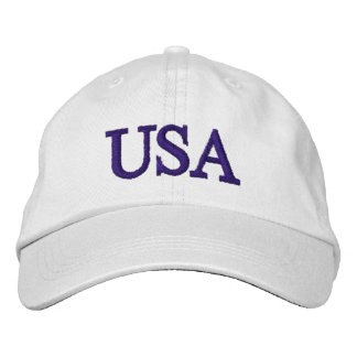 PixDezines USA DIY font+color/embroidered Embroidered Hat