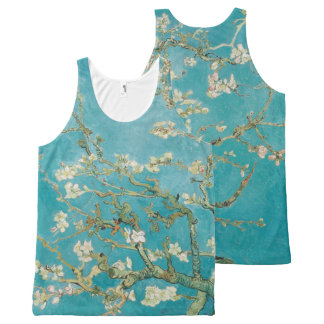 PixDezines van gogh almond blossom All-Over Print Singlet