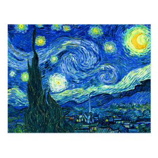 PixDezines van gogh starry night Postcard