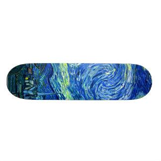 PixDezines van gogh starry night Skate Boards