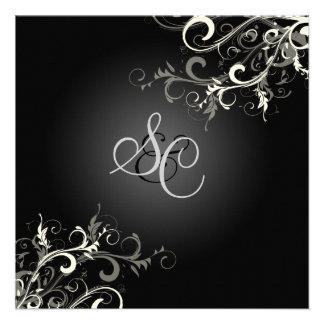 PixDezines vanilla swirls diy background color Personalized Invitations