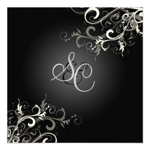 PixDezines vanilla swirls/diy background color Personalized Invitations