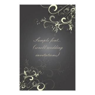 PixDezines Vanilla Swirls/Stationery paper. Customized Stationery