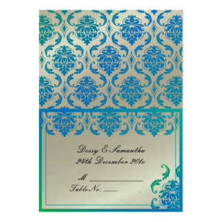 PixDezines Vendome Damask Tent Place Card (Chubby) Pack Of Chubby Business Cards