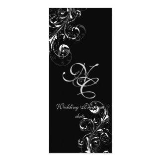 "PixDezines vine swirls | DIY background color! 4"" X 9.25"" Invitation Card"
