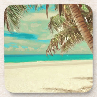 PixDezines vintage beach Coaster