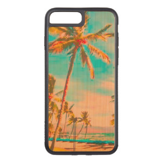 PixDezines Vintage Beach/Hawaii/Teal Carved iPhone 7 Plus Case