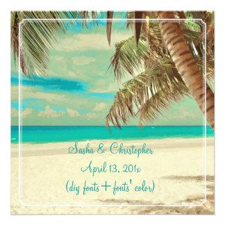 PixDezines vintage beach tropical paradise Custom Invite
