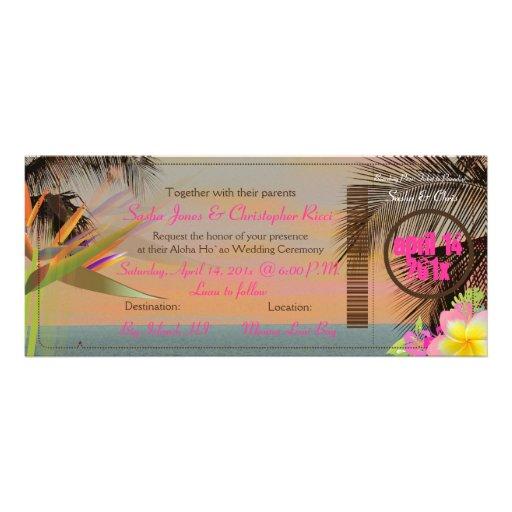 PixDezines vintage boarding pass/bird of paradise Custom Invite