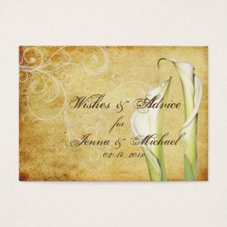 PixDezines Vintage Calla Lilies Advice Cards