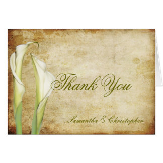 PixDezines Vintage Calla lilies, Thank You Cards