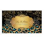 PixDezines vintage cheetah, black lace Business Card
