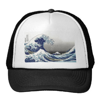 PixDezines Vintage, Great Wave, Hokusai 葛飾北斎の神奈川沖浪 Cap