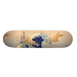 PixDezines Vintage, Great Wave, Hokusai 葛飾北斎の神奈川沖浪 Skate Decks