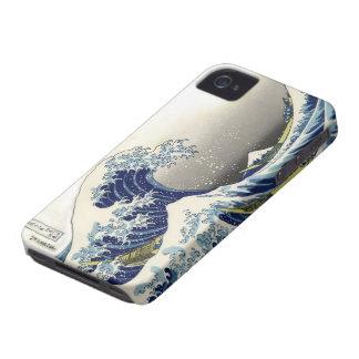 PixDezines Vintage Great Wave Hokusai 葛飾北斎 神奈川沖浪 Case-Mate iPhone 4 Cases